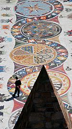 Mosaic walkway at the Donkin Reserve Port Elizabeth South Africa.jpg