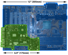 Laptop wikipedia miniaturization a comparison of a desktop computer motherboard atx form factor to a motherboard from a 13 laptop 2008 unibody macbook ccuart Image collections