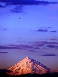 منظرهای از کوه دماوند