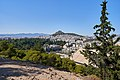 Mount Lycabettus and the Panathenaic Stadium from the Temple of Tyche on Ardettus Hill on July 19, 2019.jpg