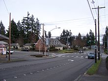 Intersection Of 236th St SW And 56th Ave W In Downtown Mountlake Terrace.