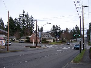 Mountlake Terrace, Washington - Intersection of 236th St SW and 56th Ave W in downtown Mountlake Terrace.