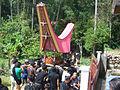 Moving coffin to the tomb, Tana Toraja, Indonesia.jpg