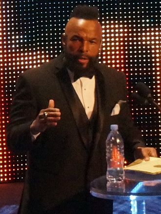 Mr. T - Mr. T inducted into the WWE Hall of Fame in April 2014