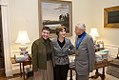 Mrs. Laura Bush with National Medal of Arts Recipient Andrew Wyeth and His Wife, Betsy Wyeth.jpg