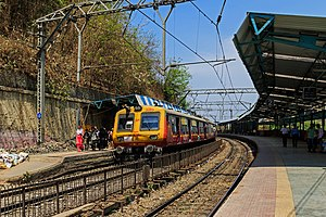 Dockyard Road railway station - Image: Mumbai 03 2016 59 Dockyard Road station