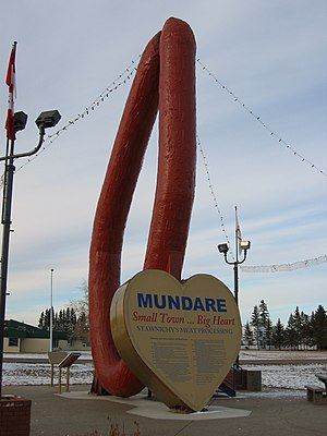 Giant Ukrainian sausage ring (kielbasa) in Mun...