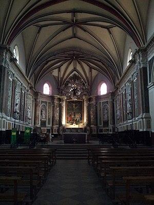 Muret - Image: Muret Eglise Saint Jacques Travée centrale et choeur
