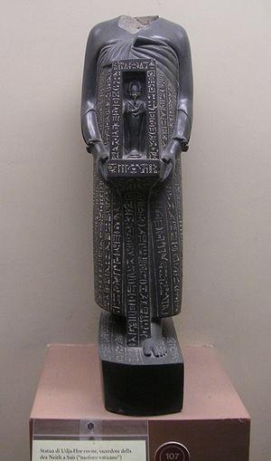 Udjahorresnet - Naophoros statue of Udjahorresnet. Rome, Museo Gregoriano Egizio