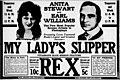 My Ladys Slipper 1916 newspaper.jpg