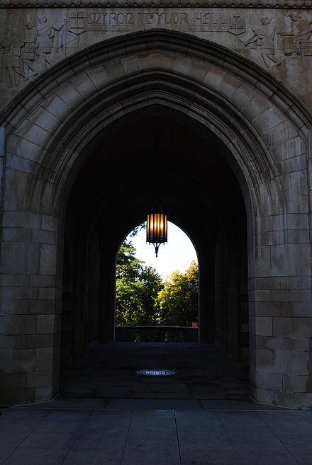 Entrance to Myron Taylor Hall, Cornell Law's principal building for instruction Myron Taylor Hall.JPG