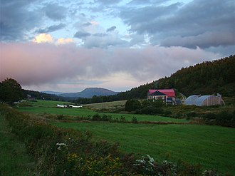 Albert County, New Brunswick - Farm landscape near Alma