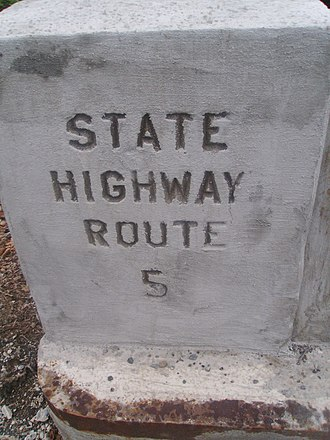 U.S. Route 46 - Bridge stamp for pre-1927 Route 5 along Route 163 (former US 46)