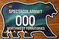 NORTHWEST TERRITORIES 2011 -MOTORCYCLE SOUVENIR SAMPLE LICENSE PLATE -NORTHERN LIGHTS - Flickr - woody1778a.jpg