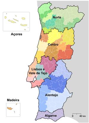 NUTS statistical regions of Portugal
