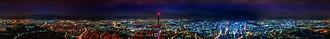 N Seoul Tower - Image: N Seoul Tower Panorama Night