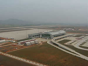Nanchang Changbei International Airport - The airport in April 2000, shortly after going into operation