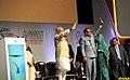 """Narendra Modi at the """"Invest Madhya Pradesh - Global Investors Summit 2014"""", at Indore, Madhya Pradesh. The Speaker, Lok Sabha, Smt. Sumitra Mahajan and the Chief Minister of Madhya Pradesh.jpg"""