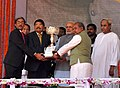 Narendra Modi at the dedication ceremony of the Rourkela Steel Plant to the Nation, in Odisha. The Governor of Odisha, Shri S.C. Jamir, the Chief Minister of Odisha, Shri Naveen Patnaik (2).jpg