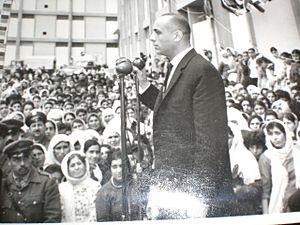 Nasim al-Safarjalani - Politician Nasim Al Safarjalani in a public speech to the people of Syria