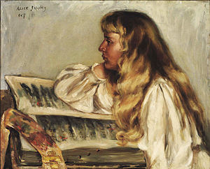 Natalie Clifford Barney - Barney at about age 13, painted by Alice Pike Barney