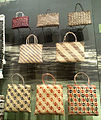 National Museum of Ethnology, Osaka - Flax basket (kete whakairo) - Mâori people in New Zealand - Made in the 1990s.jpg