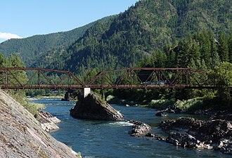Alberton, Montana - Natural Pier Bridge near Alberton