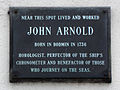 Near this spot lived and worked John Arnold born in Bodmin in 1736.jpg