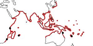 Nerita albicilla - Distribution map of Nerita albicilla.