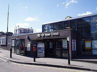 New Cross railway station - Entrance to New Cross station