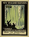 New Zealand Railway poster - Waitomo Caves, Glorious Wonders of the Underworld - Rail to Hangatiki 1927 (10469014936).jpg
