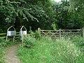 Newly created footpath through Potter Hole Plantation - geograph.org.uk - 898043.jpg