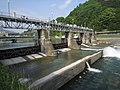 Nezame power station Kisogawa Weir left view.jpg