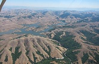 Nicasio Reservoir - Nicasio Reservoir aerial, 2012