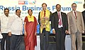 Nirmala Sitharaman and the Minister of Industry and Trade of the Russian Federation, Mr. Denis Manturov at the India - Russia Business Forum, during the International Engineering Sourcing Show - IESS VI, in Chennai.jpg