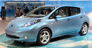 Tokyo Motor Show - Nissan Leaf exhibited at the 2009 Show.