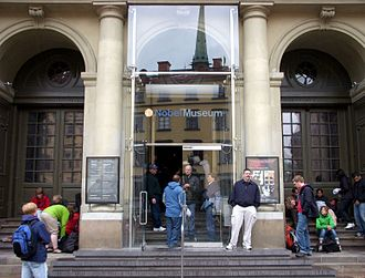 Nobel Museum - Entrance of the museum in 2009