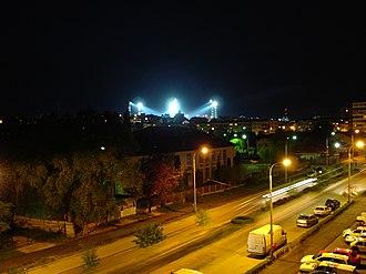 """Stadionul Nicolae Dobrin - Image: Nocturna stadionului FC Arges """"Nicolae Dobrin"""" panoramio"""