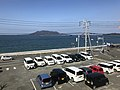 Nokonoshima Island from train of Chikuhi Line 2.jpg