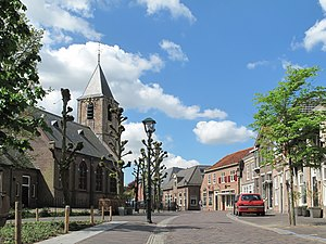 Nootdorp - Nootdorp, street with church