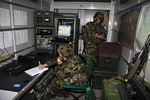 Communications & Information Services Corps - Irish Army CIS on ISTAR training as part of the EU CSDP Nordic Battlegroup