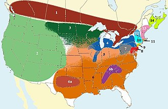 North American English - Image: North American English dialect regions