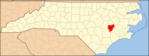 Locator Map of Lenoir County, North Carolina, ...