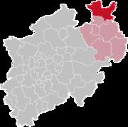 Минден-Люббекке на карте