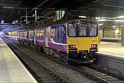 Northern Rail Class 150, 150117, platform 4, Manchester Victoria railway station (geograph 4500566).jpg