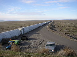 Northern leg of LIGO interferometer on Hanford Reservation.JPG