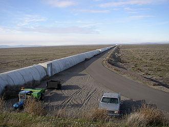 LIGO - Northern leg (x-arm) of LIGO interferometer on Hanford Reservation