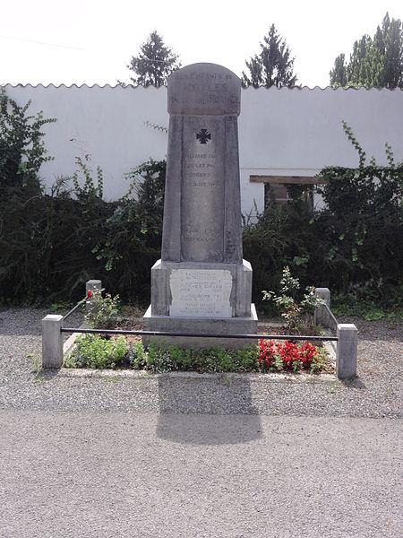 Noyales (Aisne) monument aux morts
