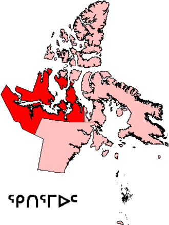 Kitikmeot Region - Nunavut with the Kitikmeot Region highlighted