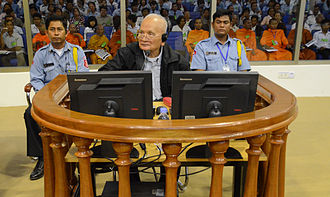 Genocide - Nuon Chea, the Khmer Rouge's chief ideologist, before the Cambodian Genocide Tribunal on 5 December 2011.
